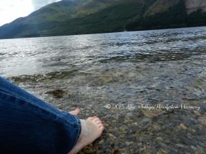 Feet in Loch Lochy