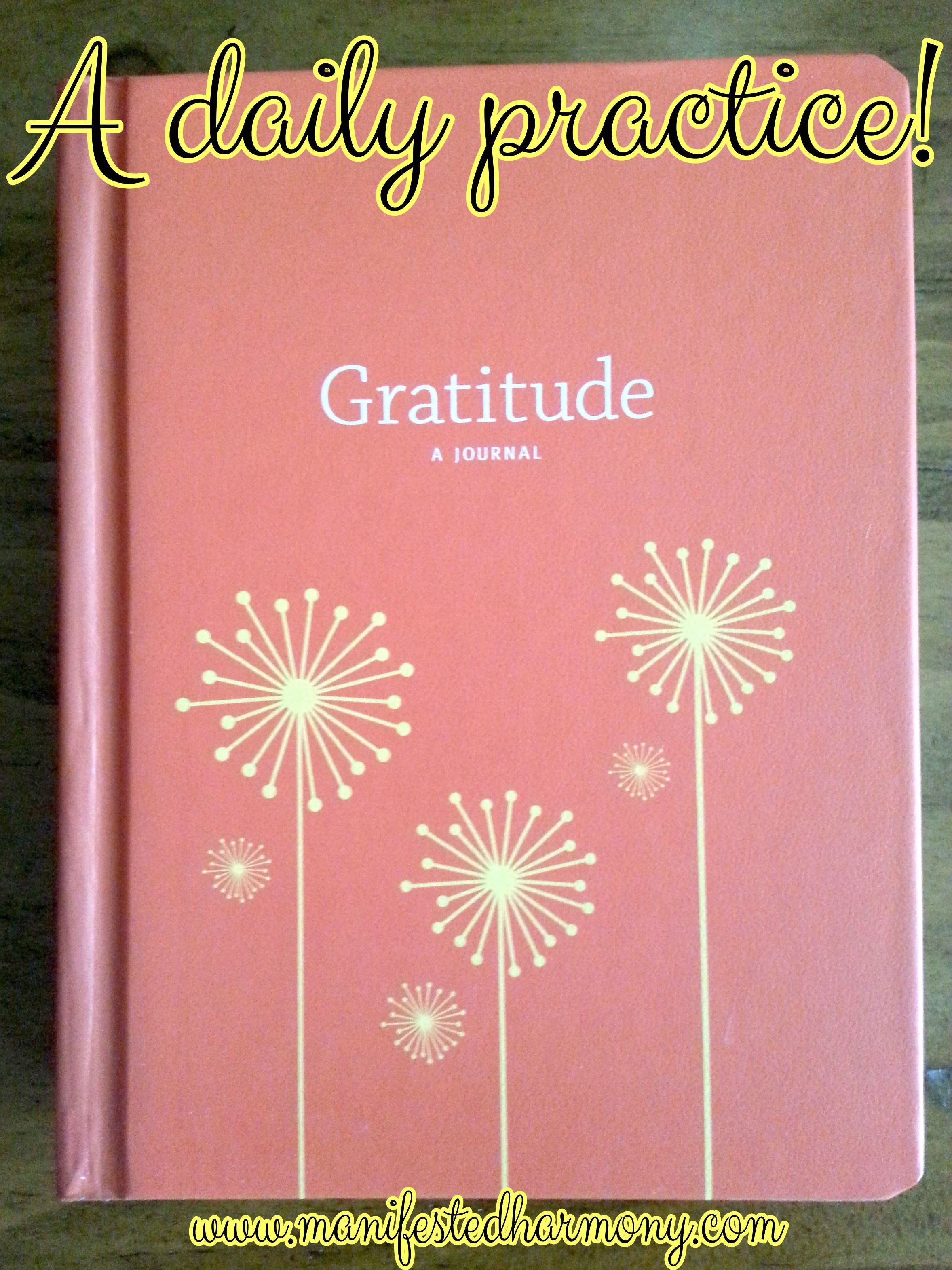 A Gratitude Time Out Manifested Harmony