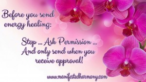 Permission for energy healing